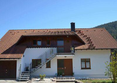 Außenansicht Ferienhaus Fronwald mit den Ferienwohnungen Bergsee, Waldwiese und Kinzigtal