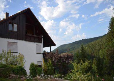 Seitenansicht Ferienhaus Fronwald mit den Ferienwohnungen Bergsee, Waldwiese und Kinzigtal