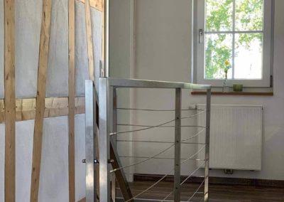 Chalet Lindenbuch: Flur im Obergeschoss mit Fachwerk