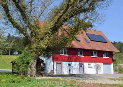 Ferienhaus Brestenberg: Die Hofseite des Hauses