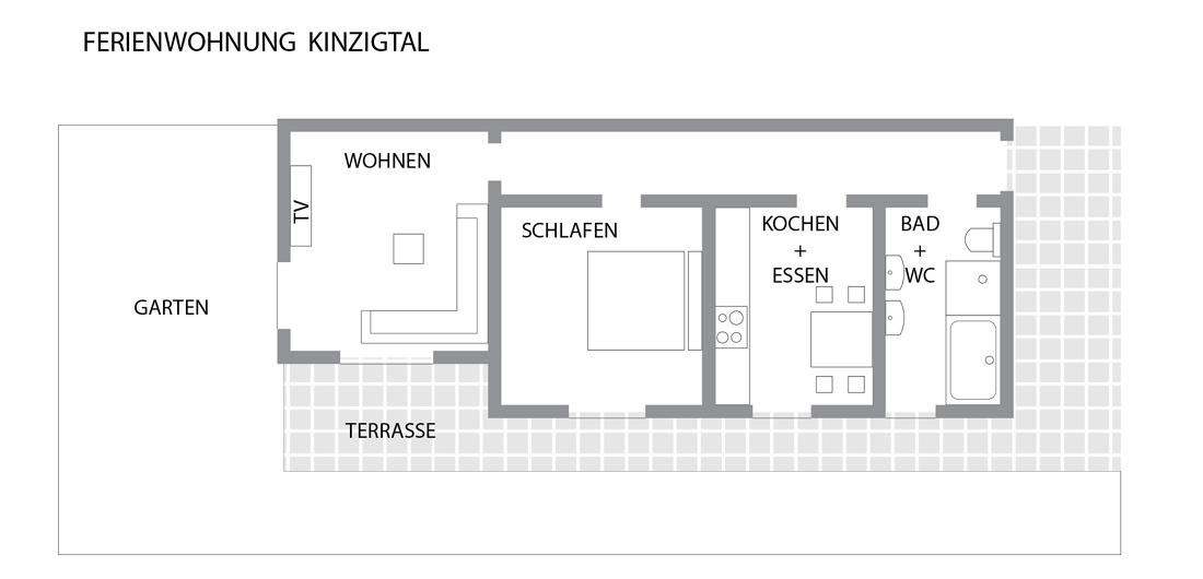 Grundriss der Ferienwohnung Kinzigtal in Alpirsbach