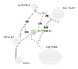 Lageplan für die Ferienwohnungen und Ferienhäuser der Schwarzwald-Lounge