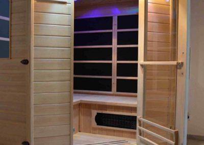 Wellness-Apartment Waldwiese: Die Sauna sorgt für Wellness und Entspannung