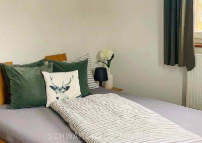 Chalet Lindenbuch: Schlafzimmer 3 mit kleinem Doppelbett