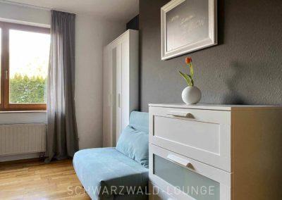 Ferienwohnung Kinzigtal: Das zusätzliche Schlafsofa im Schlafzimmer