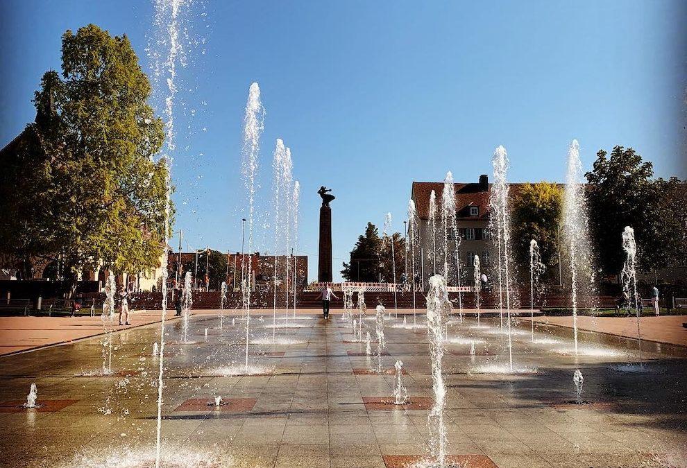 Freudenstadt Marktplatz Wasserspiele