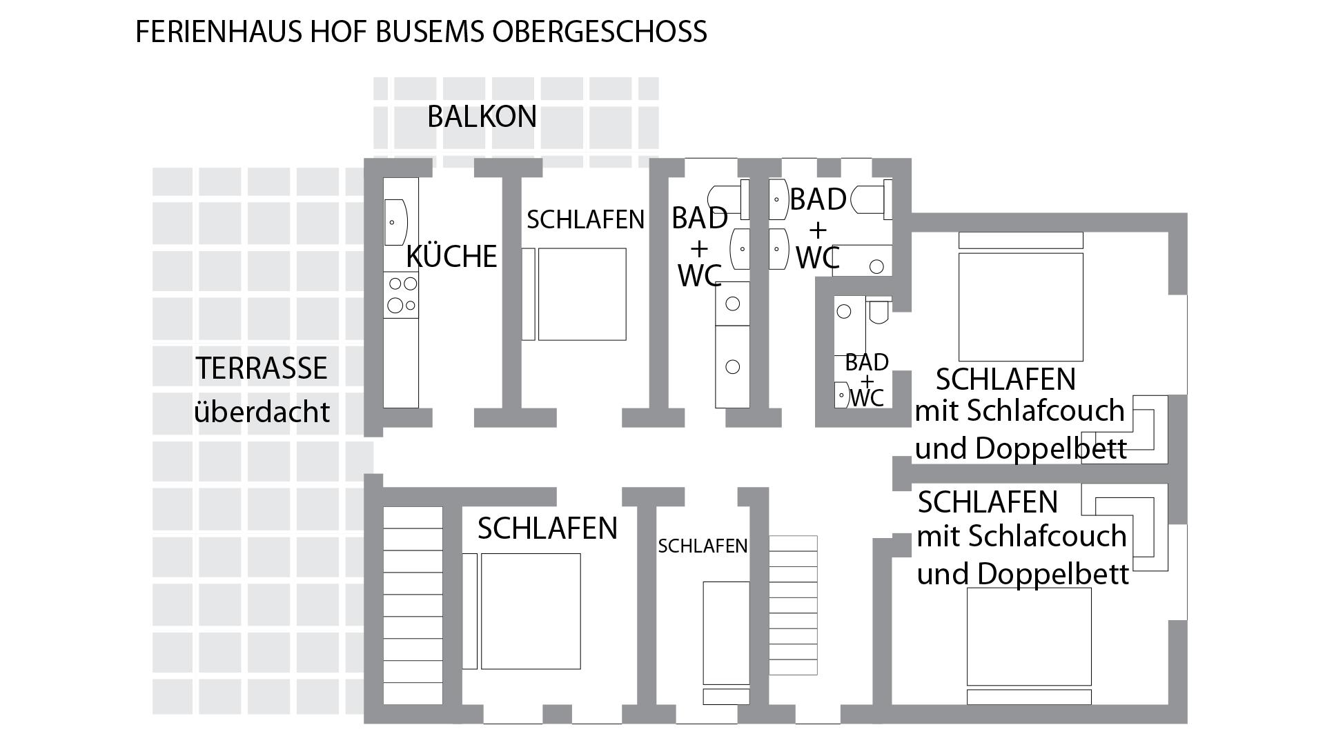 FERIENHAUS Hof Busems Obergeschoss