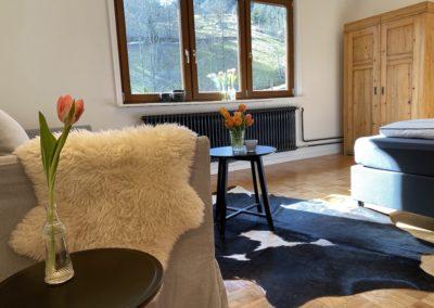 Schwarzwald Ferienhaus Busems Bad Peterstal Griesbach Schlafzimmer mit Sofaecke
