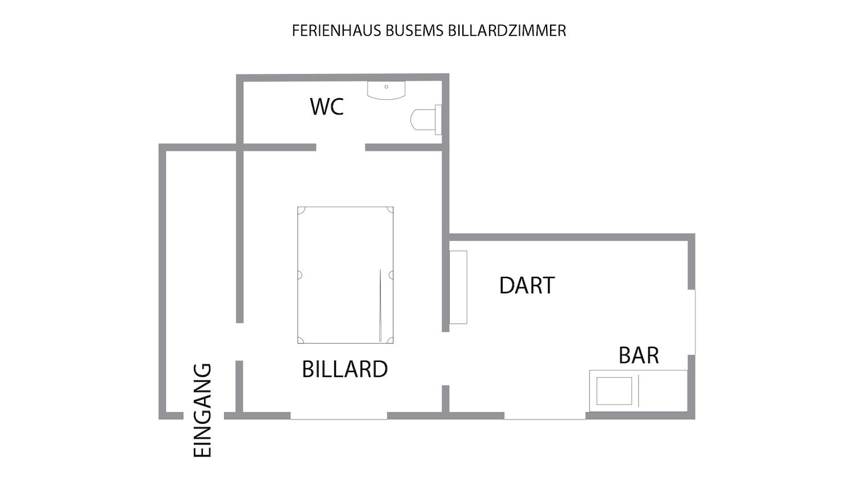 Ferienhaus Busems Billardzimmer